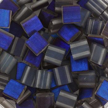 Extra foto's miyuki tila 5x5 mm - Czech coating azuro matte
