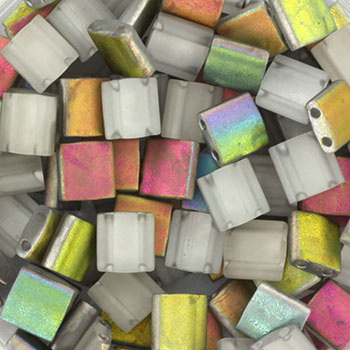 Extra foto's miyuki tila 5x5 mm - Czech coating vitrail matte