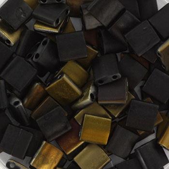 Extra foto's miyuki tila 5x5 mm - Czech coating matte valentinite