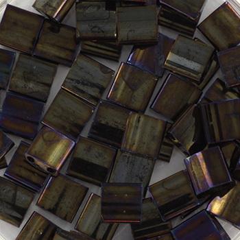 Extra foto's miyuki tila 5x5 mm - metallic iris brown