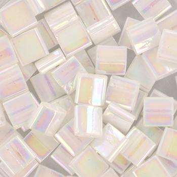 Extra foto's miyuki tila 5x5 mm - white pearl ab