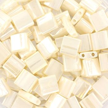 Extra foto's miyuki tila 5x5 mm - ceylon antique ivory pearl