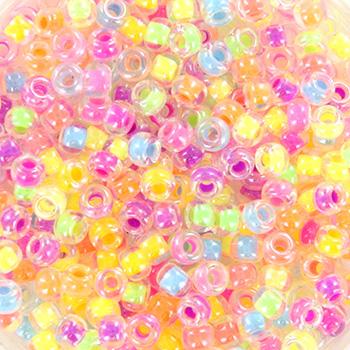 Extra foto's miyuki rocailles 8/0 - mix neon party