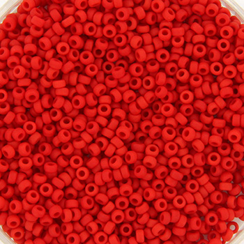 Extra foto's miyuki rocailles 15/0 - opaque matte red