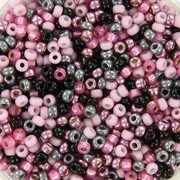 Extra foto's miyuki rocailles 11/0 - mix pink candy