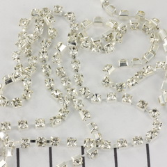 Extra pictures strass chain - 2.7 mm silver